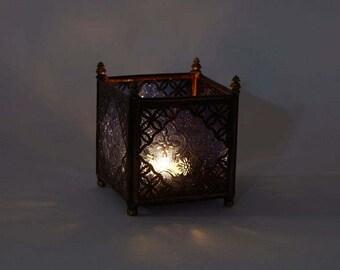 Orient glass Lantern blue
