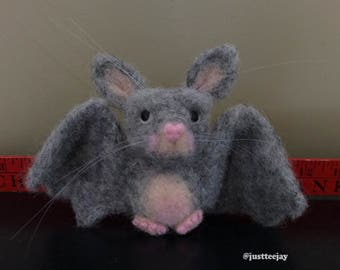 NeedleFelted Little Gray Bat