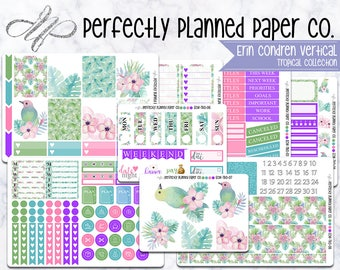 Tropical Collection // A La Carte // Erin Condren Vertical  and Happy Planner Classic [021]