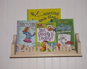 Kids bookshelf, Kids book shelf, Personalized shelf, Kids shelf, Shelf, Bookshelf, scroll saw, wall shelf, floating bookshelf