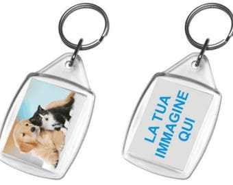 Keyring personalized gadgets with color pictures