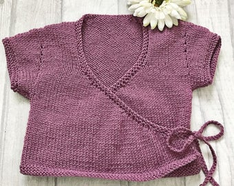 Baby ballet cardigan – handmade knitted cardigan - baby shower gift - girls clothes - kids clothes