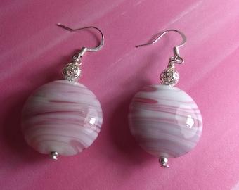 Raspberry Cream Earrings