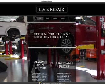 WIX Premade Website Template/Car mechanic services