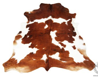 """Genuine """"Coffee and White"""" Cowhide imported from South America"""