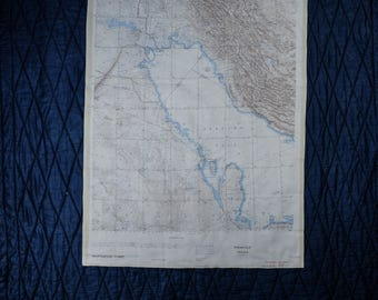 ONC H-6 // H-7 Persian Golf - Vintage Silk SAS Escape Scarf Cloth Map from 1970