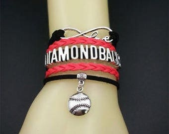 Arizona Diamondbacks MLB Infinity Love Bracelet