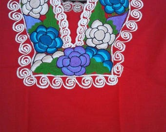 Mexican Embroidered blouse size XL