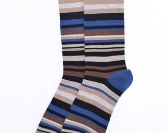 Colorful striped men socks sz US 7-12