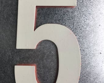 Vintage Marquee Sign Number 5 (8 inches)