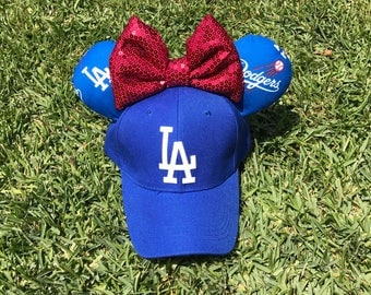 Los Angeles Dodgers Mickey Ears Hat- Dodger Hat- LA Hat- Mickey Ears Hat - Minnie Ears Hat -  Disney Ears - Disney Hat