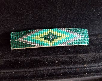 Green Diamond Barrette