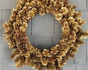Pinecone Wreath Golden/Christmas Wreath