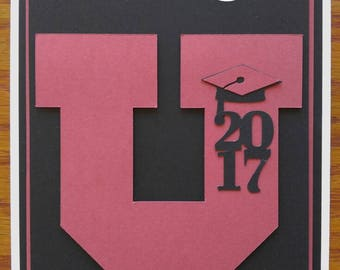 Customized Handmade Graduation Card- Choose Your College- Congratulations Card