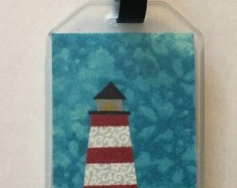 Lighthouse  Fabric  Luggage Tag