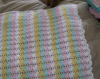 Cluster Stripes baby blanket