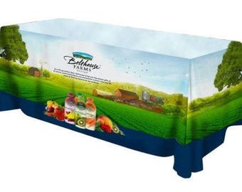 Full Color Trade Show Table Throw (Closed Back), Free shipping