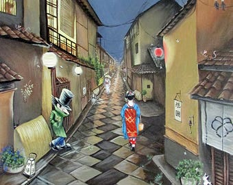 Limited Edition Giclee Print 'The Gutterman Visits Japan'