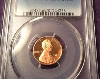 1986-S 1C Lincoln Head Cent PR69RD DCAM PCGS