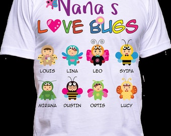 Nana Love Bugs Personalized T-Shirts Special Edition