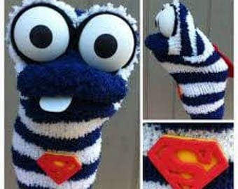 Superman Sock Puppet