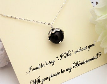 Brown ACORN NECKLACE Acorn Pearl Necklace Will you be My Bridesmaid PROPOSAL Bridesmaid Necklace Bridemaid Acorn Necklace Bridesmaid Gift