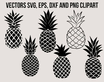 Pineapple Svg clipart, Pineapple dfx, Summer svg, Pineppale png, Pineapple cutfiles, Tropical files for cricut explore, silhouette cameo