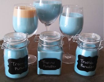 Tropical Paradise candle set