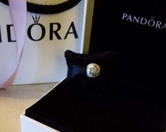 Authentic Genuine S925 ALE Pandora Sterling Silver I Love My Pets 791712CZ Charm Bead - Fits Pandora Moments Bracelet