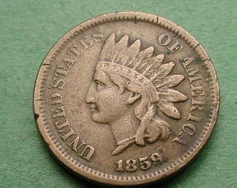 1859 Indian Head Cent  Fine FREE Shipping In United States # ET279