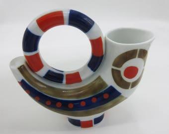 Mid-Century Modern Sargadelos Galician Spanish Porcelain Sculpural vase