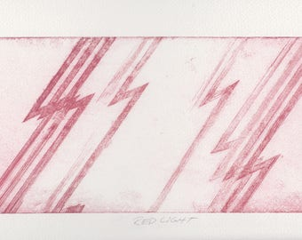 Red light etching print