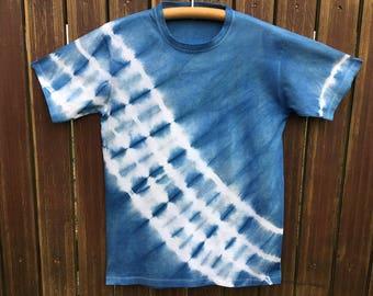 Hand-dyed Indigo batik shirt No. 2 / meter