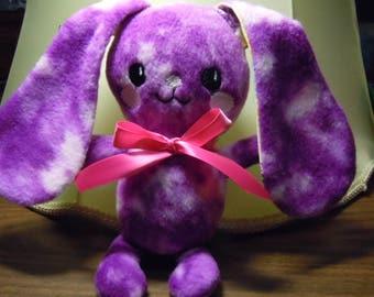 Purple Fleece Stuffed Bunny Kids Baby Mothers Day Baby shower Birthday