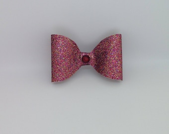 Multi coloured Glitter Bow 2.5 Inches