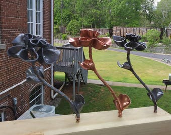 Handmade steel flowers