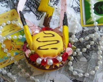 Pikachu hat hair clip