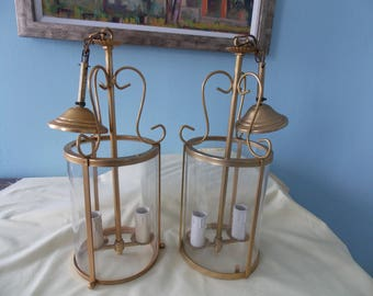Pair of French Cylindical Lanterns