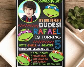 Ninja Turtles Invitation / Ninja Turtles Birthday / Ninja Turtles Party / Ninja Turtles Invite / Ninja Turtles Birthday Invitation / Ninja