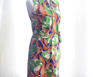 Vintage 1970's Floral Print Dress