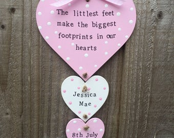 Personalised new baby plaque gift present