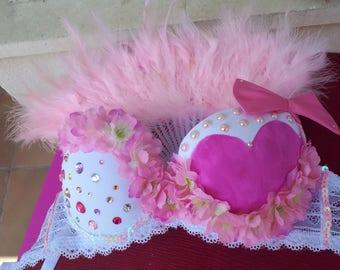 Pink rave bra princess + accessory