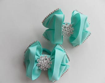 "Bows ""Turquoise chic"""