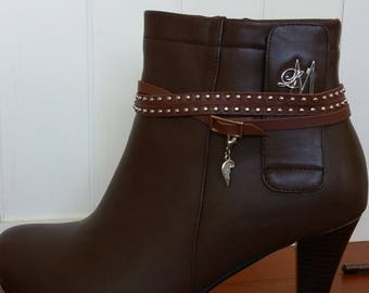 Brown Studs Boot Belt