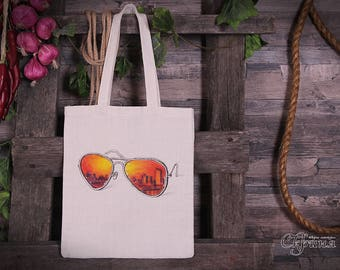 "Ecobag (Tote bag) ""Glasses""."