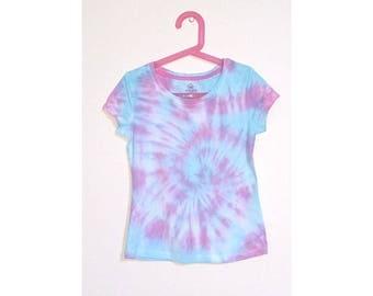 Tie Dye Girl's T-Shirt - Size 8
