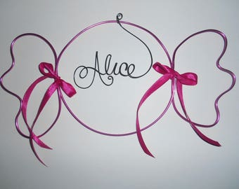 decoration wall name in aluminum wire