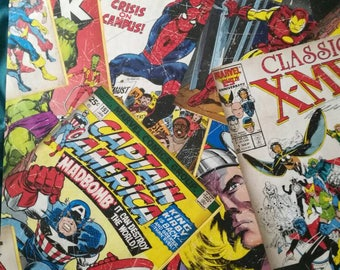 Marvel comic book cover poster