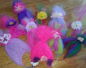Trolls- Princess Poppy Headband Crown Trolls Birthday- Headband Princess Trolls.
