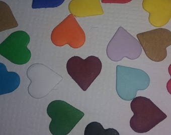 Heart Die Cut Confetti 1/8 of inch 100
